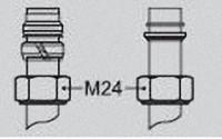 VIESSMANN 7452600 Klemmring-Verschraubung 15 x 1 x M24