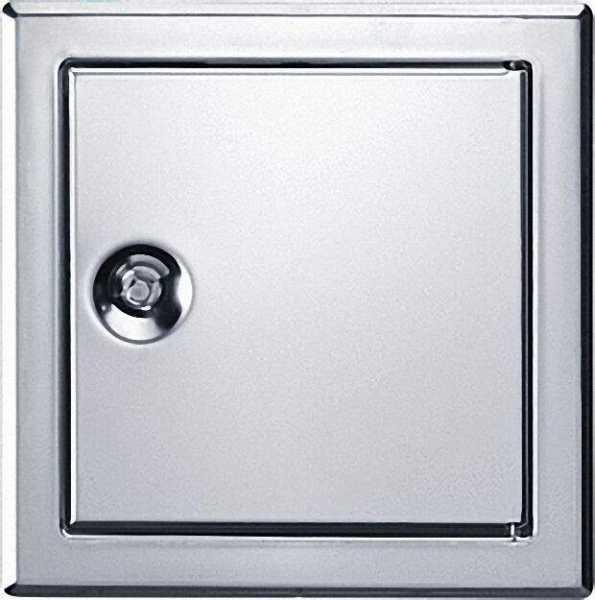 UPMANN Revisionstür SOFTLINE Edelstahl mit Vierkantverschluss Einbaumaß 150 x 150mm
