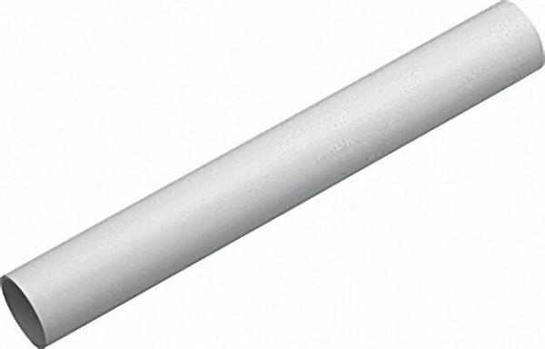 Schutzrohr geschlitzt Verkehrsweiss - ähnlich RAL 9016 - 21,7mm