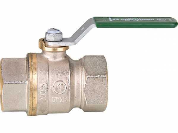 "Giacomini R950WX005 Trinkwasser-Kugelhahn R950W Dado, DN25 (1"") IG Messing vernickelt / Hebelgriff"