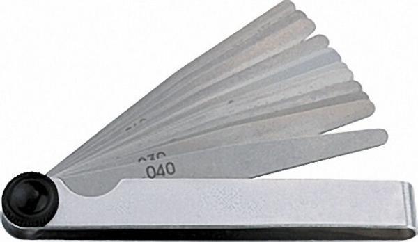 Fühlerblattlehre Messbereich 0,05-1mm rostfrei, 20 Blätter
