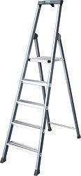 Stufen-Stehleiter, eloxiert Arbeitshöhe bis ca. 3,25 m Sechs Stufen