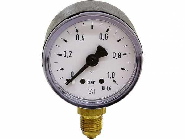 "Manometer 0-10 Bar Axial oder Radial Ø40 oder 50mm  Metallgehäuse 1//8/"" 1//4/"" 3//8/"""