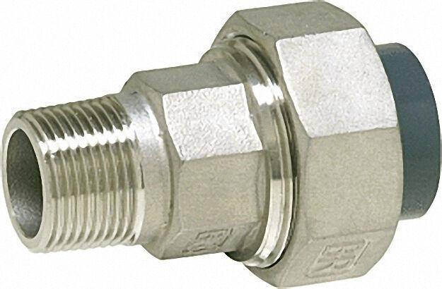 Pvc-u - Klebefitting Rohrverschraubung PVC-U/V2A, 63mm x 2'', AG