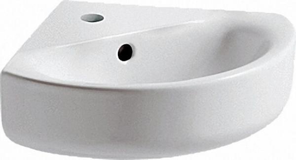Eckwaschtisch Arc Connect Schenkel. 340mm/ BxTXH= 480x440x160mm