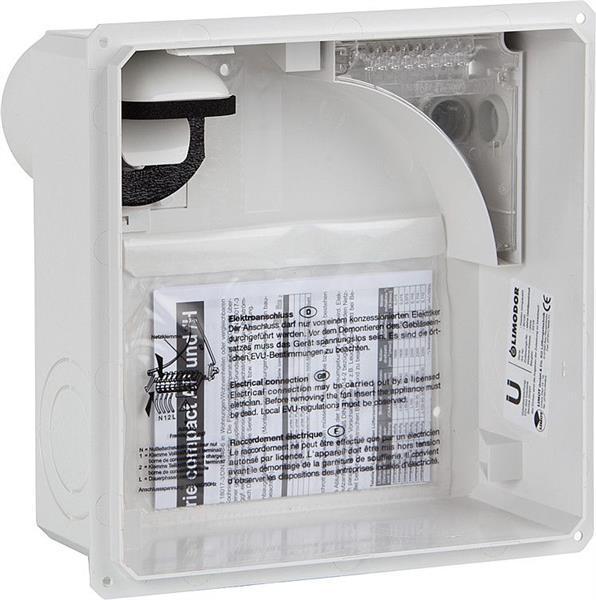 LIMODOR 80100 Unterputzgehäuse compact/H, Abluftstutzen DN80 rückseitig