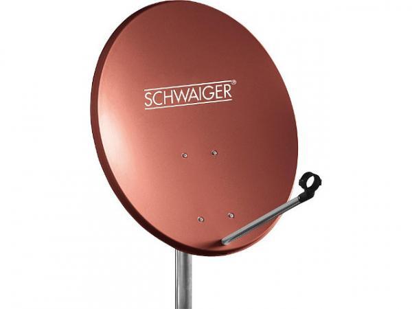 55cm Offset Antenne Stahl Ziegelrot RAL 8012