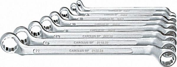 CAROLUS Doppel-Ringschlüssel-Satz gekröpft, 8-tlg. 6 x 7 - 20 x 22