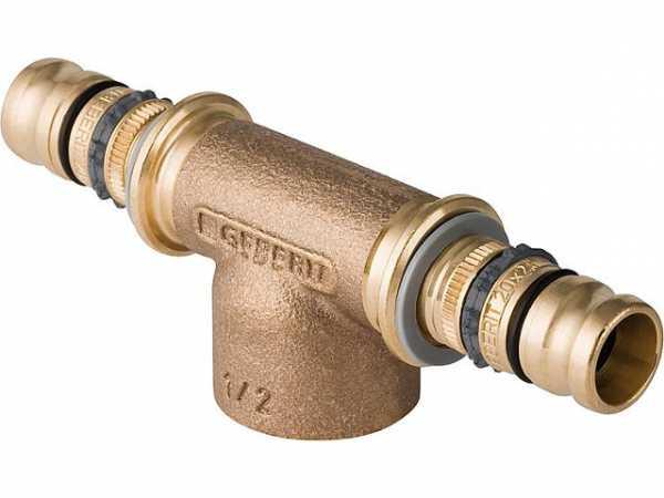 Geberit Mepla T-Stück mit IG Rotguss d26-Rp3/4-26 603362005