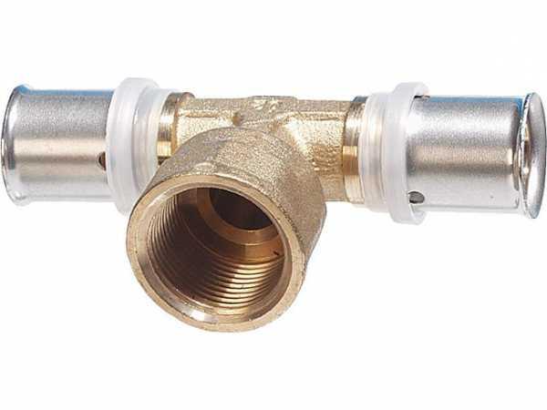 Pressfitting für MSVR T-Stück mit IG 63x6mm-1'-63x6mm TH-Kontur