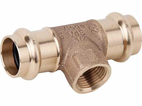 VIEGA Sanpress T-Stück Modell 2217.2 15mmxDN10(3/8)x15mm