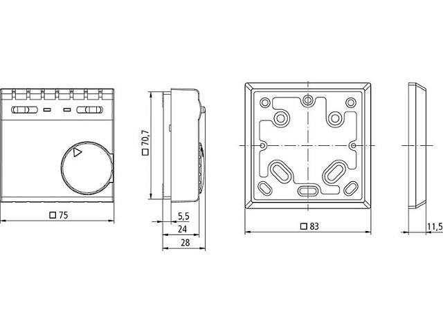 raumthermostat theben up preisvergleich die besten. Black Bedroom Furniture Sets. Home Design Ideas