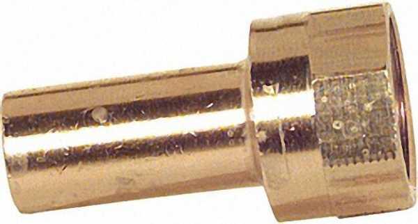 Rotguß Pressfitting Übergangsstück IG 28x3/4'' Typ 6246g, Einsteckende lang