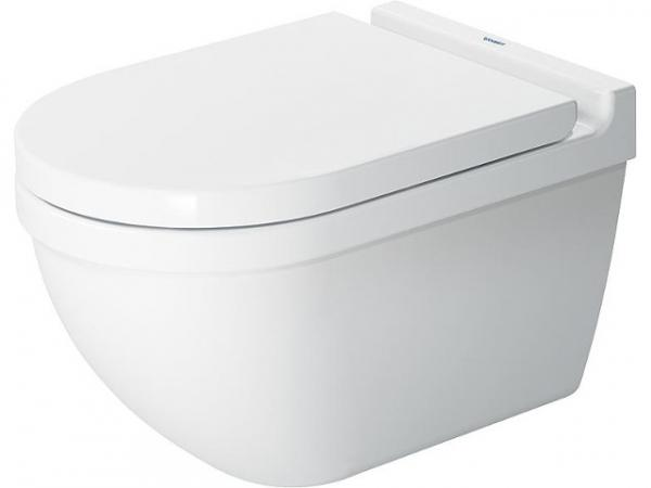 Wand-WC Duravit Starck 3 Tiefspüler, Spülrandlos, weiss