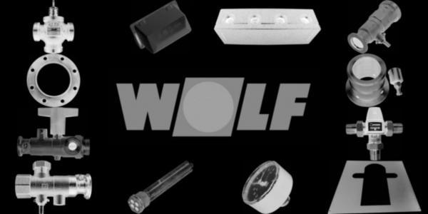 WOLF 8611961 Wandhalter CGB 75-100 RAL 9016(ersetzt Art.-Nr. 8611720)