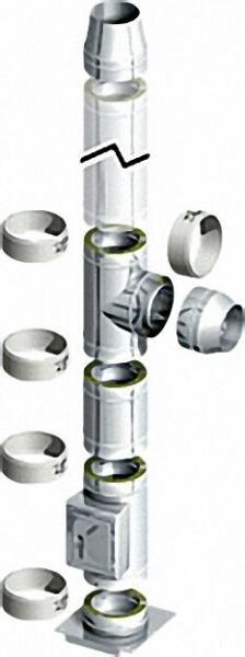 Doppelwandiges Abgassystem - Bausatz DN 130/190mm