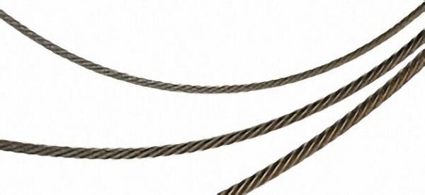 Rundlitzenseile DIN 3060 6 x 19 mit Fasereinlage, verzinkt Durchmesser 6mm / 25 m
