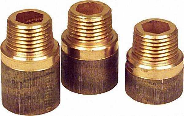 Rotguß-Gewindefitting Hahnverlängerung mit DVGW Typ 3540, 1/2''x50mm (I/A)