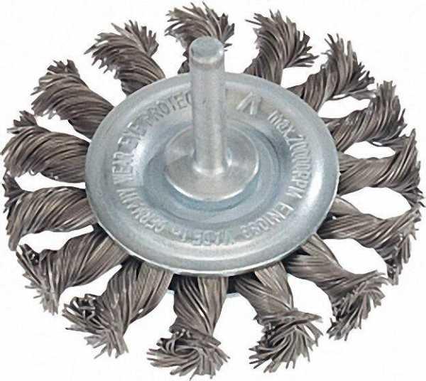 Rundbürste gezopfür Stahldraht 0, 50mm 75mm, schaft 6,0mm