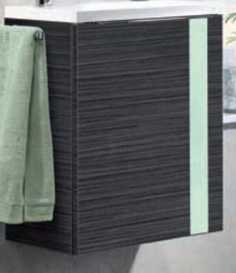 LANZET 7270112 VEDRO 12 Waschtischunterschrank: + Becken 49x60x32 links Dekor Dark Oak /mint, 1 Tür