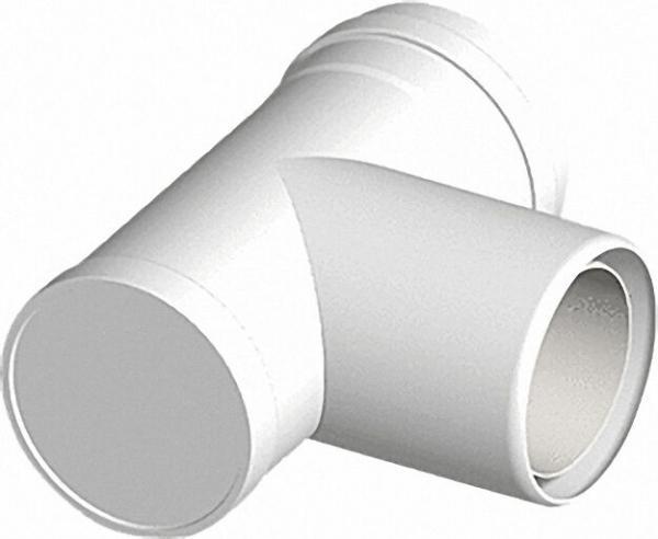 Kunststoff-Abgassystem Revisions-Stück 87° 60/100