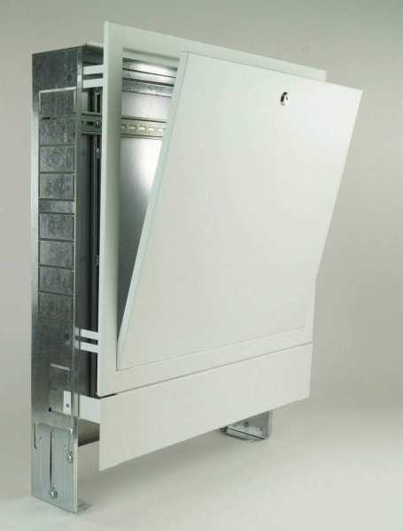 Verteilerschrank Unterputz, weiß RAL9016 Struktur