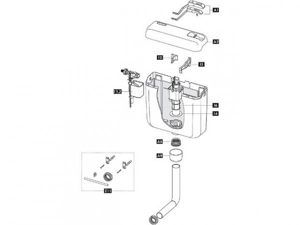 Ablaufventil Schwab zu Modell 122.xxxx, komplett 243280