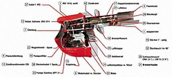 INTERCAL Mischkopf MB821 komplett mit Lüuftdüse und Elektrode für BNR 10/110
