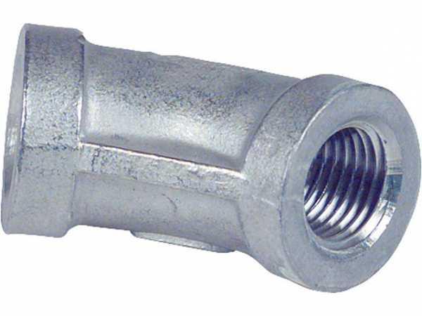 Edelstahl Gewindefitting Winkel 45° V4A 1/2'' EF 120 IG/IG