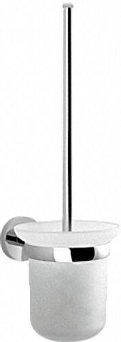 Toilettenbürstengarnitur Serie 8000 Messing, verchromt, Opalglas rund Bürste: weiß