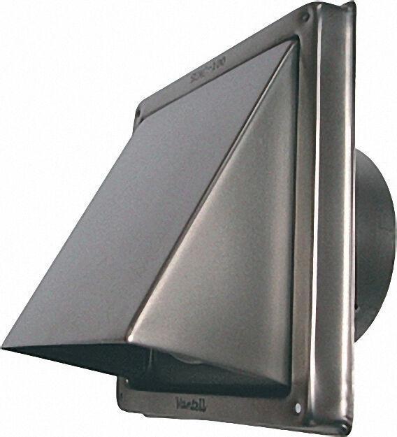 Ablufthaube Edelstahl V2A gebürstet Anschlussstutzen 125mm Durchmesser
