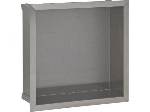 Edelstahl-Wandeinbaunische, offen, BxH: 325 x 325 mm, Tiefe 100 mm