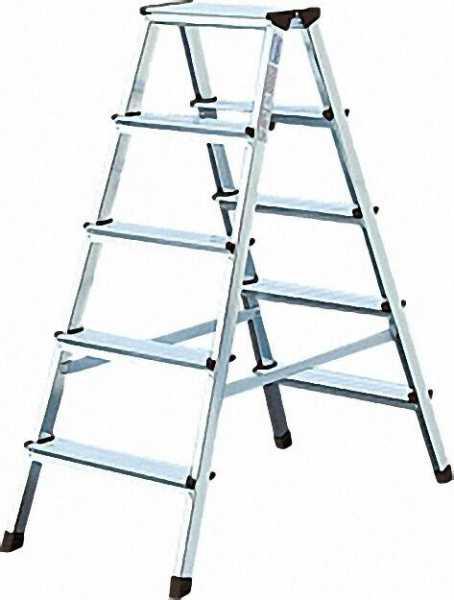 Stufen-Doppel-Leiter Arbeitshöhe 2,86 Standhöhe 0,86 Länge 1,18 2x5 Stufen