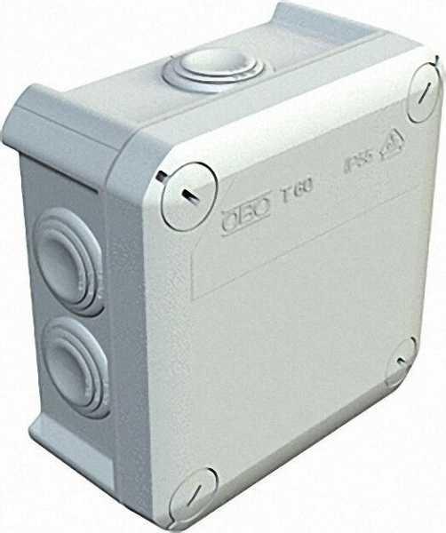 Abzweigkasten Thermoplast 7 x M25, IP 66 Typ T 60, lichtgrau / 1 Stück