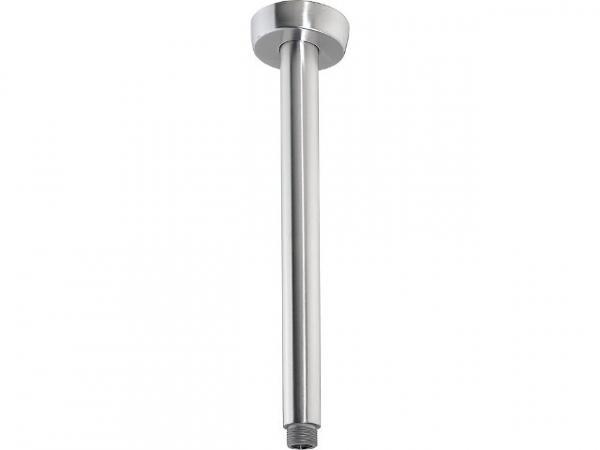 Decken-Anschlussrohr für Kopfbrausen, rund, Edelstahl gebürstet, 300 mm
