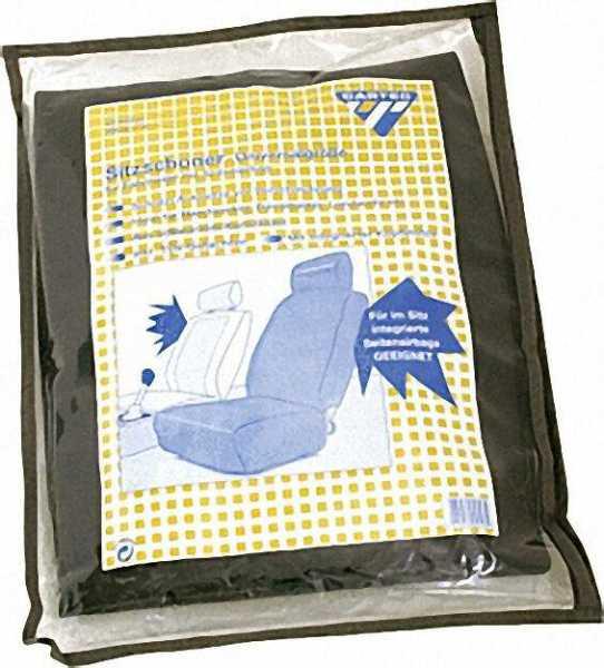 Sitzschoner mit integrierter Kopfstütze für Seitenairbag Farbe schwarz