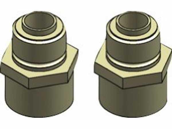 Buderus Übergangsnippel, 2x, G1/2 auf G3/4, 7738112656