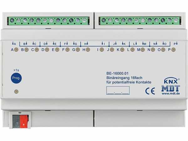 Reiheneinbaugerät MDT 16-fach Binäreingang Potenzialfrei
