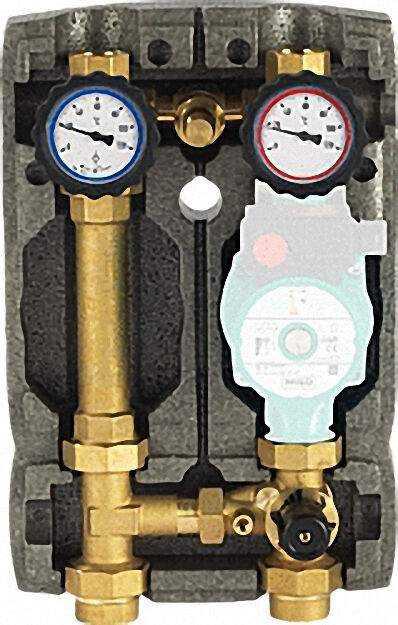 Heizkreisset Easyflow DN25 R1'' mit Isolierung 3-Wege- Mischer und Übe