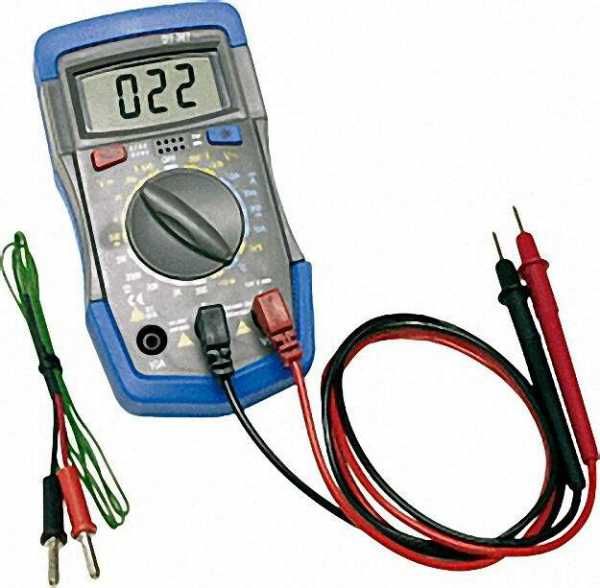 Solarcheck Digitalmultimeter DT-36T mit Messkabel und Temperaturfühler