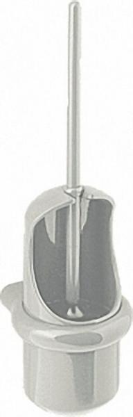 WC-Bürstengarnitur aus Nylon Farbe: Gelb 22 inklusive Befestigung und Diebstahlschutz