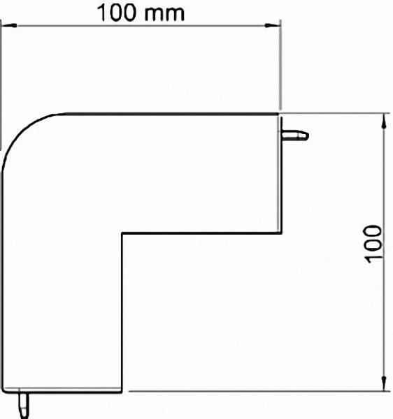 Außeneckhaube 100mm, lichtgrau Typ WDK/HA 60110 / 1 Stück