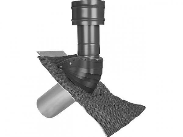 Gebavent SDL100125S Dachhaube Steildach Lüftung Typ SDL 100/125 Farbe schwarz