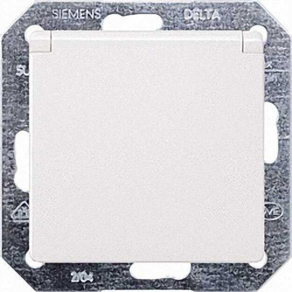 SCHUKO-Steckdose mit Klappdeckel elektroweiß/ Schutzart IP20 1 Stück