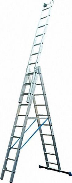 Vielzweck-Leiter 3-teilig Arbeitshöhe 4,15 bis 7,90m 3x10 Sprossen