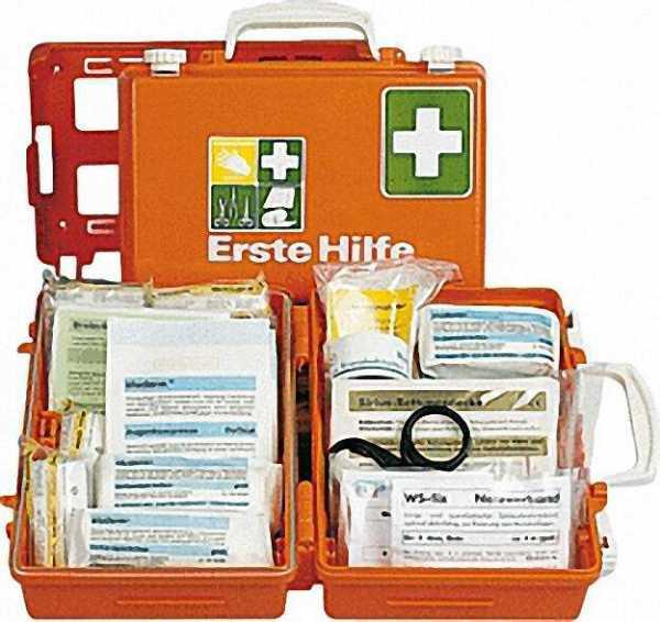 Erste-Hilfe-Koffer mit Füllung nach DIN 13 157 260x170x110mm / orange
