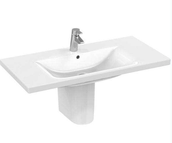IDEAL STANDARD E8127MA CONNECT Möbelwaschtisch, weiß/Ideal Plus 85 x 49 cm, mit Hahnloch