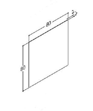 DANSANI 91083 Spiegel mit abgerundeten Ecken inkl. Sensorsch.& zentriertes Wärmefeld, B-80 cm