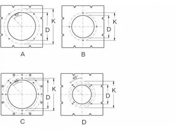 Buderus 63030809 Brennerplatte SB745, 440x440 Brennerloch 325, Lochkreis 400, M12