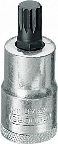 Schraubendreher-Einsatz 1/2'' Innenvielzahn Größe 10 (G)